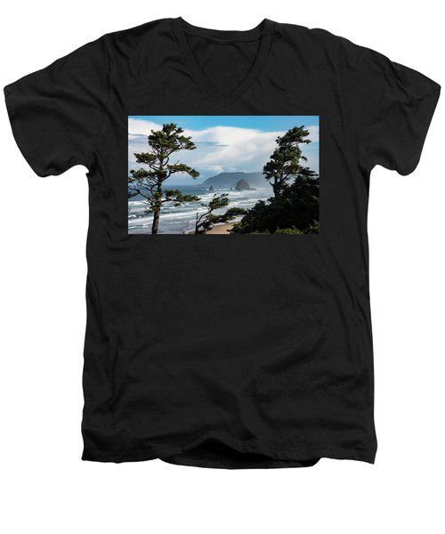 Haystack Views Men's V-Neck T-Shirt