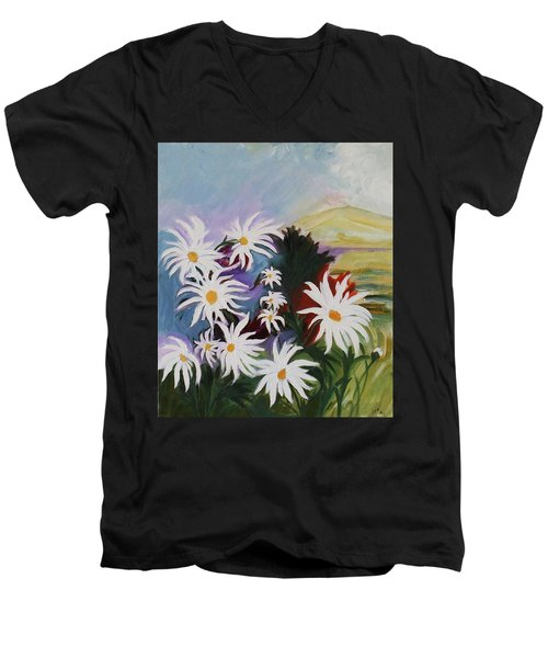 He Loves Me He Loves Me Not Men's V-Neck T-Shirt