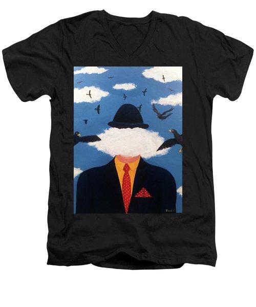 Head In The Cloud Men's V-Neck T-Shirt