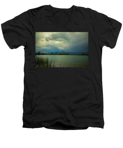 Men's V-Neck T-Shirt featuring the photograph Head In The Clouds by James BO Insogna