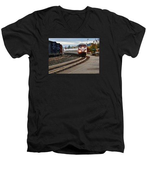Heading For Portland Men's V-Neck T-Shirt by VLee Watson