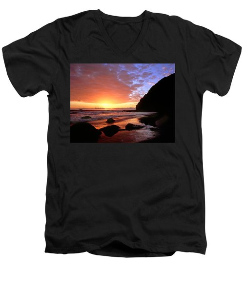 Headlands At Sunset Men's V-Neck T-Shirt