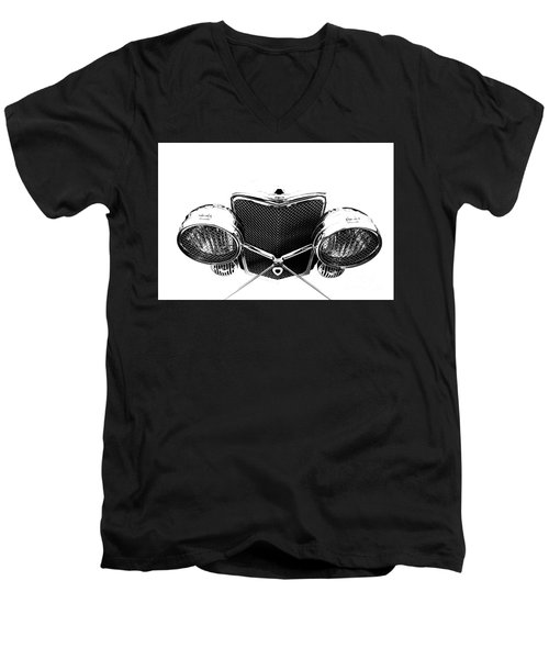 Men's V-Neck T-Shirt featuring the photograph Headlights by Stephen Mitchell