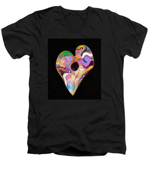 Heart Bowl Men's V-Neck T-Shirt
