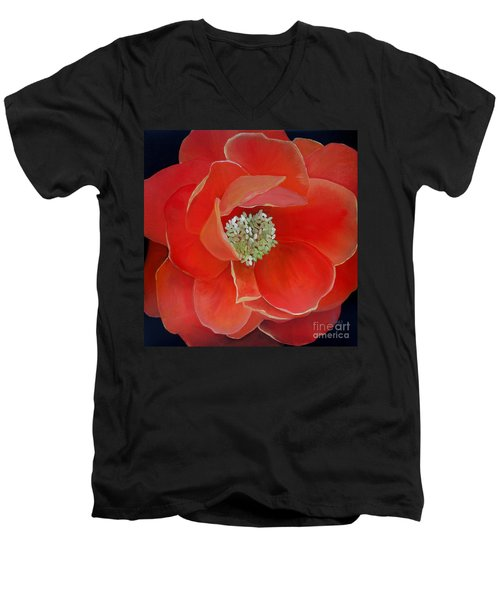 Heart-centered Rose Men's V-Neck T-Shirt