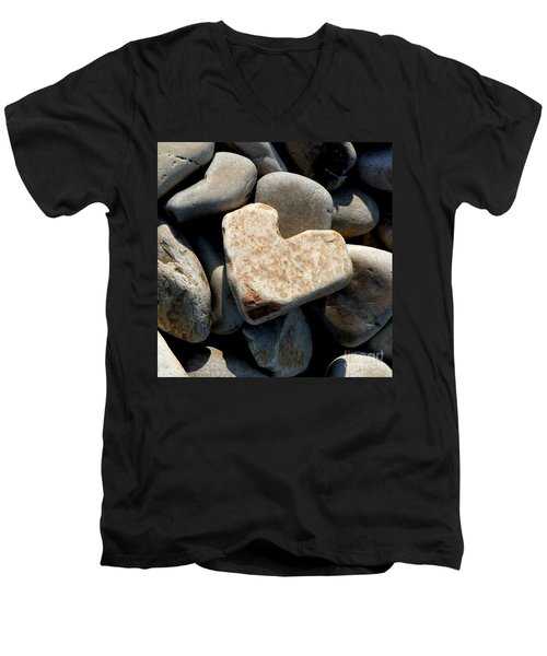 Heart Stone Men's V-Neck T-Shirt