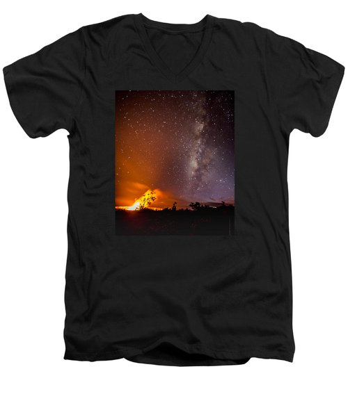 Heaven And Hell Men's V-Neck T-Shirt by Allen Biedrzycki