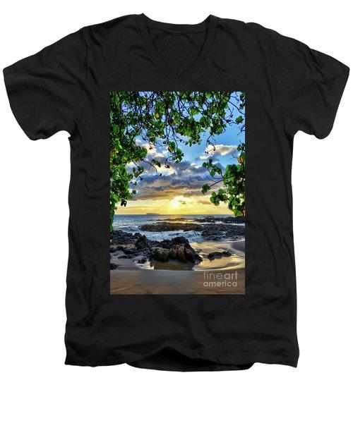 Heaven On Maui Men's V-Neck T-Shirt