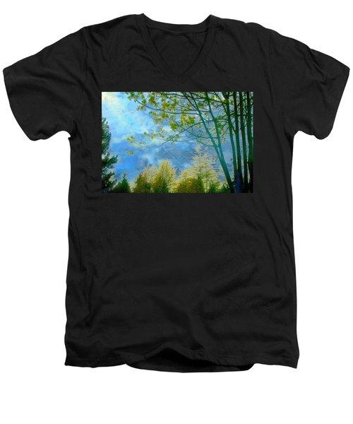 Heavenly Light II Men's V-Neck T-Shirt