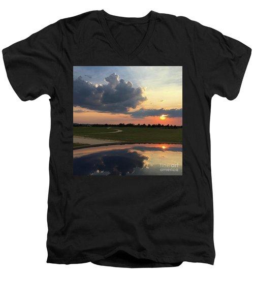 Heavenly Sunset Men's V-Neck T-Shirt