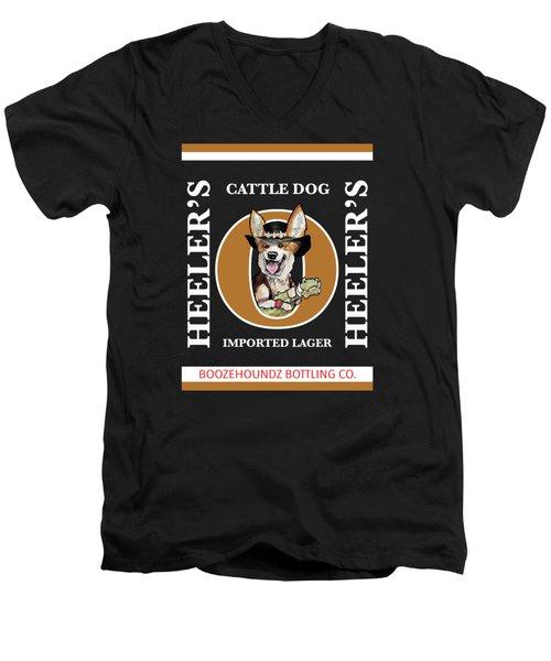 Heeler's Cattle Dog Imported Lager Men's V-Neck T-Shirt