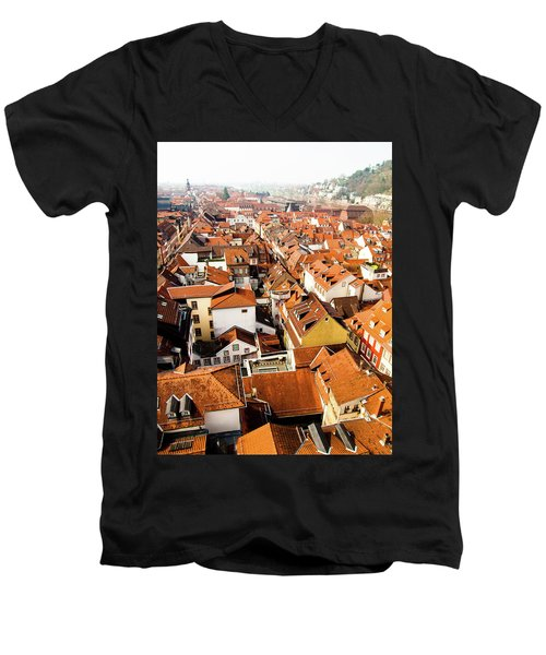 Heidelberg Cityscape Men's V-Neck T-Shirt