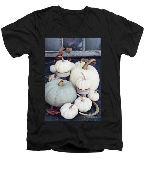 Heirloom Pumpkins And Antlers Men's V-Neck T-Shirt