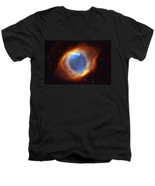 Helix Nebula Men's V-Neck T-Shirt