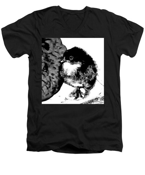 Hello Baby Chick Men's V-Neck T-Shirt