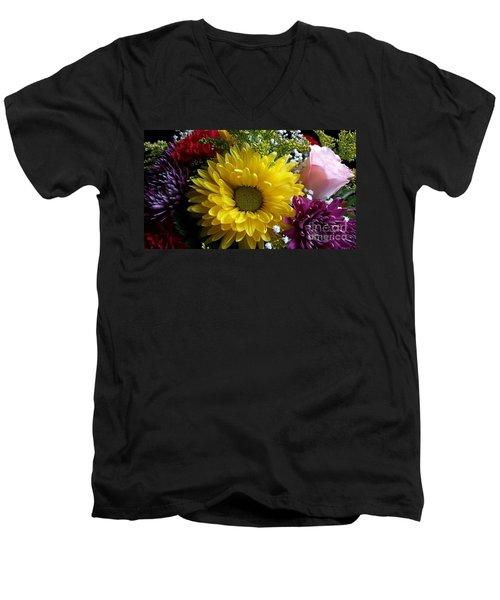 Hello Sunshine Men's V-Neck T-Shirt by Becky Lupe