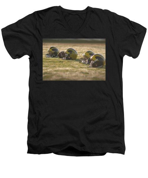 Helmets In Golden Dawn Sunlight Men's V-Neck T-Shirt