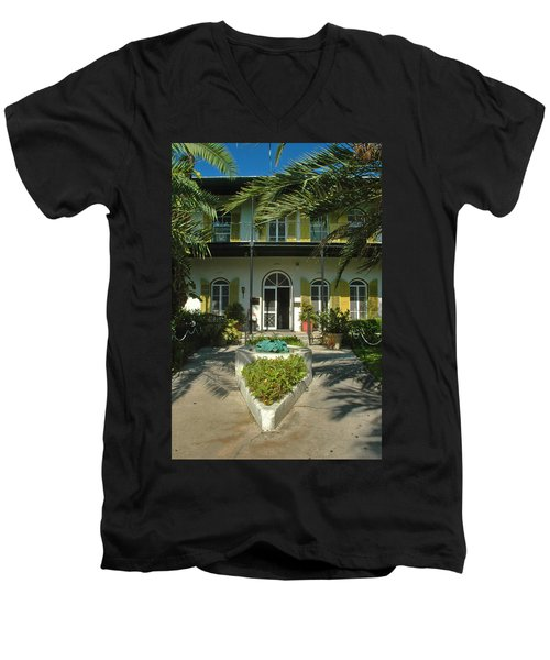Hemingways House Key West Men's V-Neck T-Shirt
