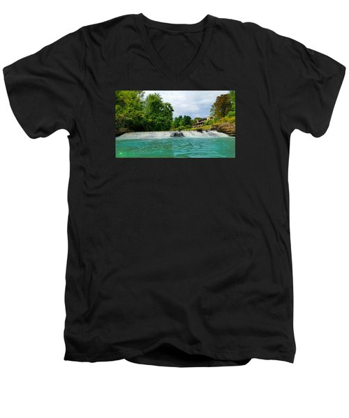 Men's V-Neck T-Shirt featuring the photograph Henry Ford Estate - Fair Lane by Michael Rucker
