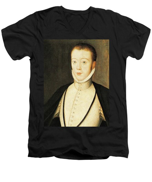 Henry Stewart Lord Darnley Married Mary Queen Of Scots 1565 Men's V-Neck T-Shirt