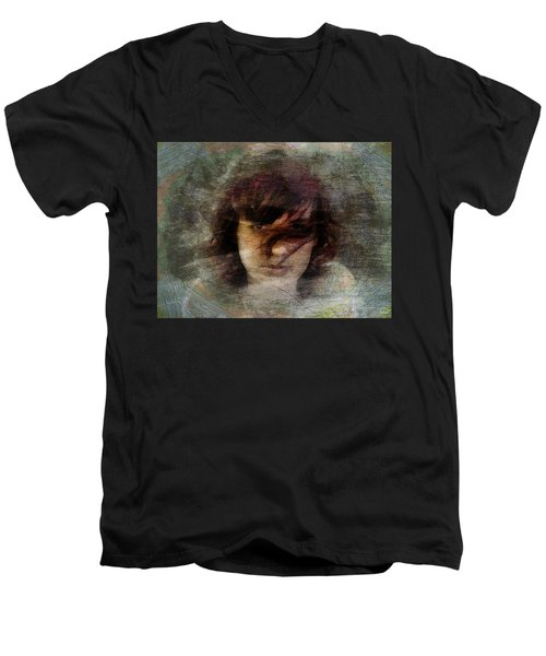 Her Dark Story Men's V-Neck T-Shirt by Gun Legler
