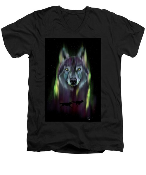 Her Eyes Were Like Twin Moons Men's V-Neck T-Shirt
