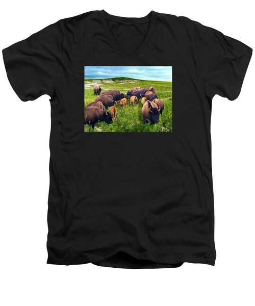 Herd Hierarchy Men's V-Neck T-Shirt
