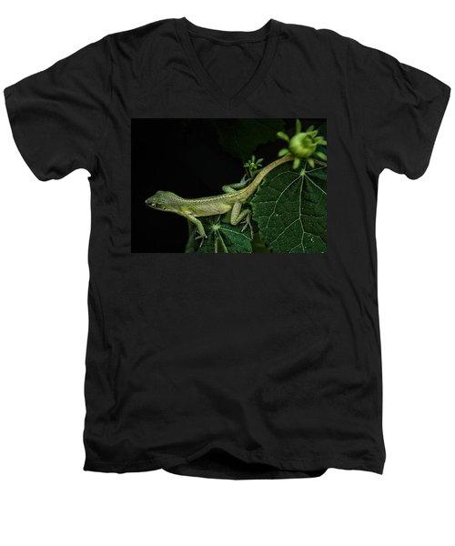 Here Lizard Lizard Men's V-Neck T-Shirt by Kim Henderson