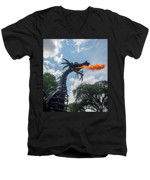Here There Be Dragons Men's V-Neck T-Shirt