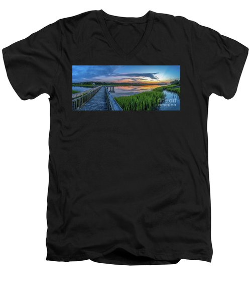 Heritage Shores Nature Preserve Sunrise Men's V-Neck T-Shirt