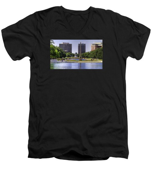 Hermann Park Men's V-Neck T-Shirt