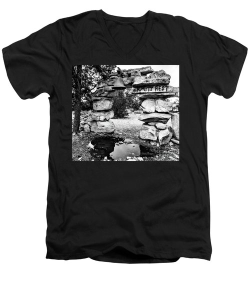 Hermit's Rest, Black And White Men's V-Neck T-Shirt