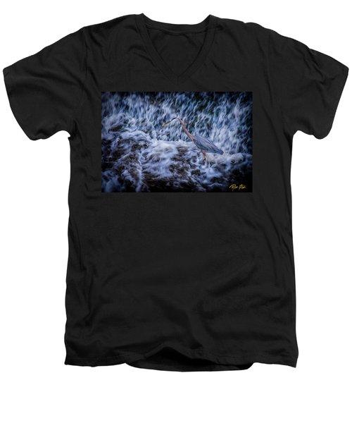 Heron Falls Men's V-Neck T-Shirt