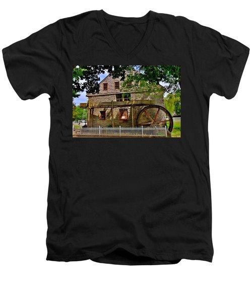 Herr's Grist Mill Men's V-Neck T-Shirt
