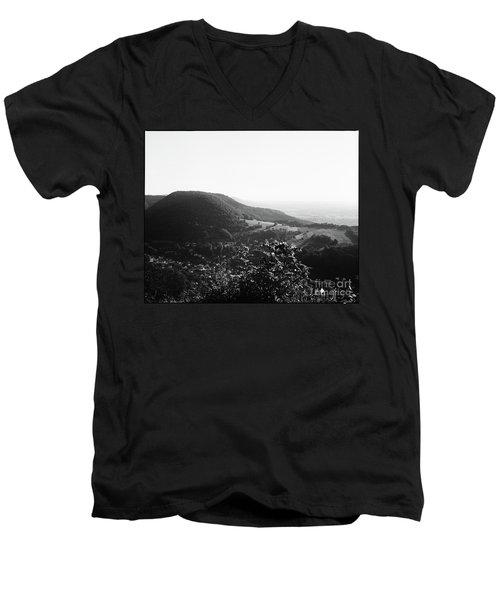 Heubach View Towards Scheuelberg Men's V-Neck T-Shirt