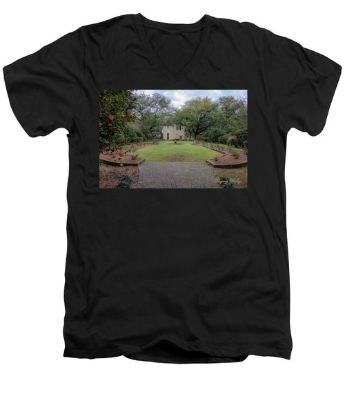 Men's V-Neck T-Shirt featuring the photograph Heyman Garden 03 by Gregory Daley  PPSA