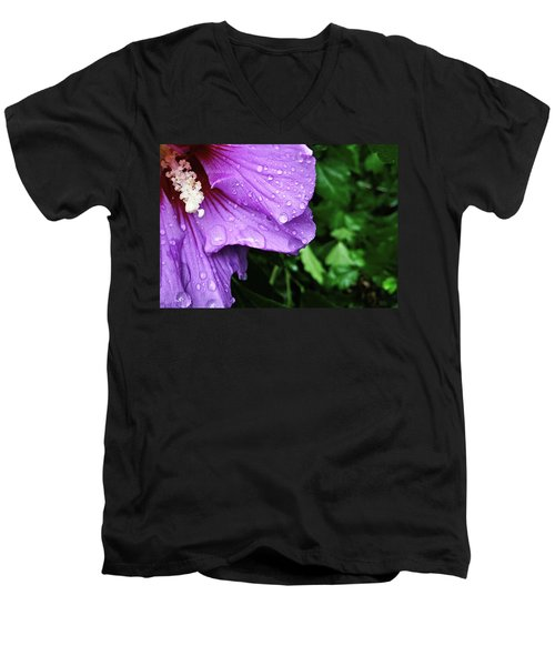 Men's V-Neck T-Shirt featuring the photograph Hibiscus Corner by Robert Knight