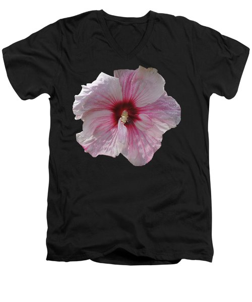 Hibiscus Men's V-Neck T-Shirt by David and Lynn Keller