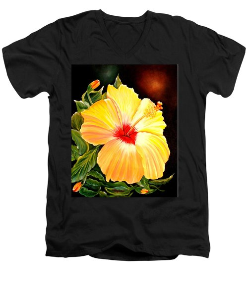Hibiscus Glory Men's V-Neck T-Shirt