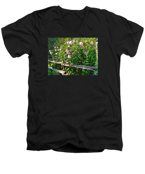 Hibiscus Hedge Men's V-Neck T-Shirt