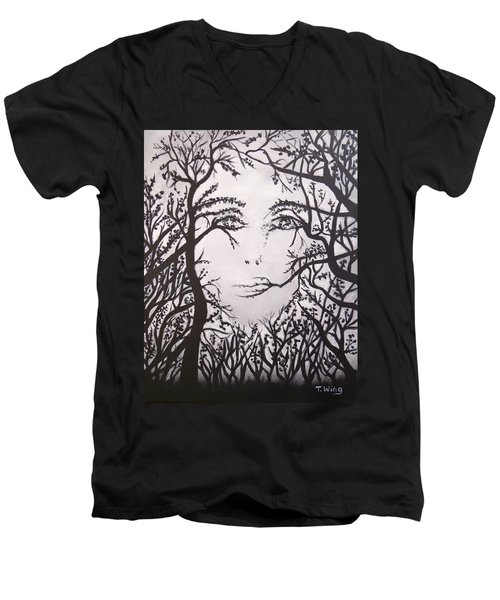 Hidden Face Men's V-Neck T-Shirt