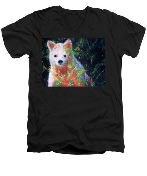 Hiding In The Vines Men's V-Neck T-Shirt