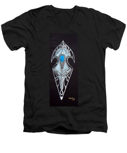 High Elven Warrior Shield  Men's V-Neck T-Shirt