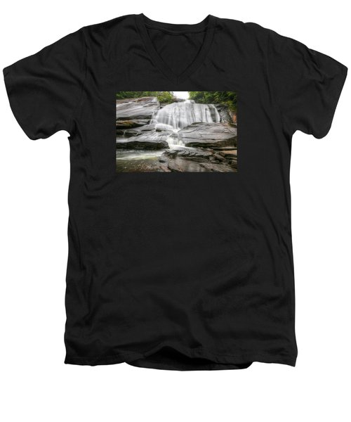 High Falls Of Dupont State Forest Men's V-Neck T-Shirt