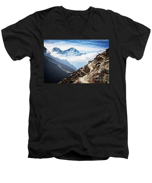 High In The Himalayas Men's V-Neck T-Shirt