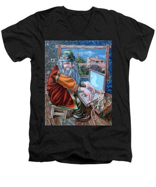 High-tech Men's V-Neck T-Shirt