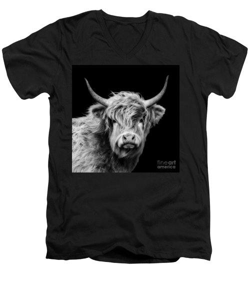 Highland Cow Portrait Men's V-Neck T-Shirt
