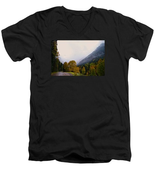 Men's V-Neck T-Shirt featuring the photograph Highlands by Laura Ragland
