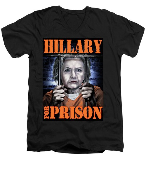 Men's V-Neck T-Shirt featuring the photograph Hildabeast by Don Olea