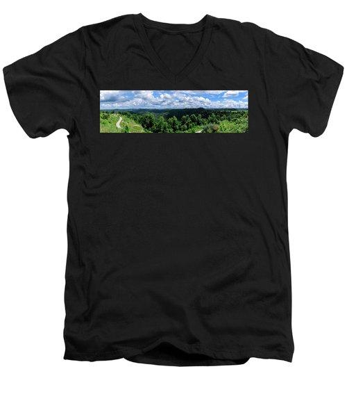Hills And Clouds Men's V-Neck T-Shirt